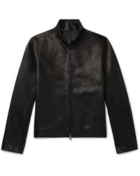 The Row Cole Slim-fit Leather Bomber Jacket - Black