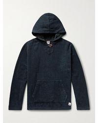 Birdwell Baja Garment-dyed Cotton-terry Hoodie - Blue