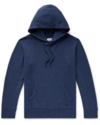 Saturdays NYC Ditch Wool, Cotton And Nylon-blend Hoodie - Blue