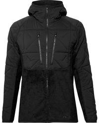 Burton [ak]® Cavu Hybrid Insulator Fleece And Quilted Hooded Ski Jacket - Black