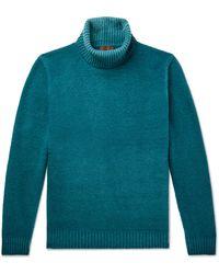 Altea Virgin Wool Rollneck Sweater - Blue