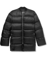 Rick Owens - Oversized Quilted Nylon Down Jacket - Lyst