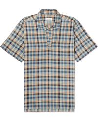 Oliver Spencer - Yarmouth Checked Cotton Half-placket Shirt - Lyst