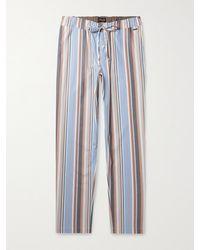 Hanro Night & Day Striped Cotton-poplin Pyjama Trousers - Blue