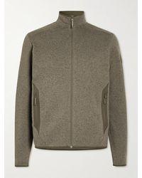 Arc'teryx Covert Slim-fit Tech-jersey Zip-up Cardigan - Grey