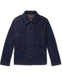 MR P. Double-faced Denim Chore Jacket - Blue