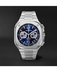 Bell & Ross Br 05 Automatic Chronograph 42mm Stainless Steel Watch - Blue