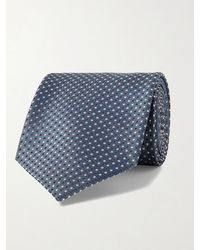 Brioni 8cm Silk-jacquard Tie - Blue