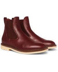 Loro Piana - Winter Beatle Walk Full-grain Leather Chelsea Boots - Lyst
