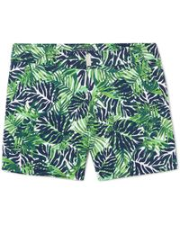Vilebrequin Merise Mid-length Printed Swim Shorts - Green