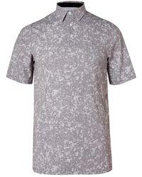 Kjus Golf Printed Stretch-jersey Golf Polo Shirt - Gray