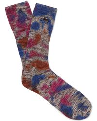 Stussy - Tie-dyed Cotton-blend Socks - Lyst