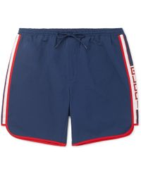 Gucci - Short-length Grosgrain-trimmed Swim Shorts - Lyst