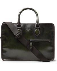 Berluti Un Jour Mini Leather Briefcase - Green