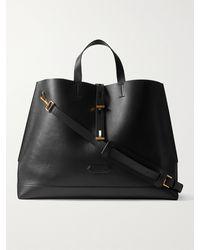 Tom Ford Leather Tote Bag - Black