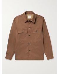 Paul Smith Stretch Organic Cotton-twill Overshirt - Brown