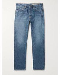 Kapital Slim-fit Embroidered Denim Jeans - Blue