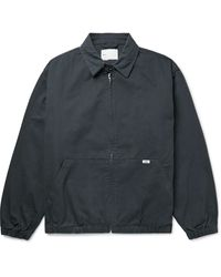 Adsum Crew Cotton-twill Harrington Jacket - Blue