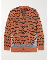 Kapital Jacquard-knit Cardigan - Orange