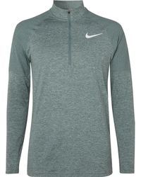 bee6ff49a754c Lyst - Nike Element Mélange Dri-fit Therma Sphere Half-zip Top in ...
