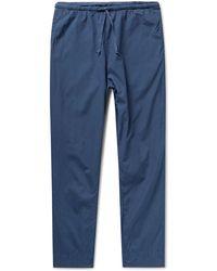 Save Khaki Haven Cotton-poplin Drawstring Pants - Blue