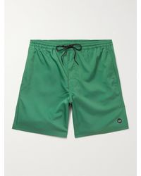 Outerknown Nomadic Volley Logo-print Recycled Twill Drawstring Shorts - Green
