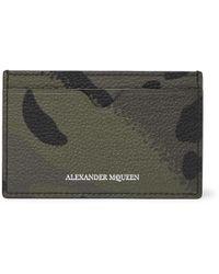 Alexander McQueen - Camouflage-print Full-grain Leather Cardholder - Lyst