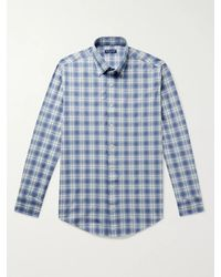 Peter Millar - Oliver Button-down Collar Checked Woven Shirt - Lyst