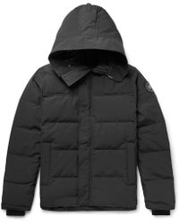 Canada Goose - Macmillan Slim-fit Quilted Shell Hooded Down Parka - Lyst
