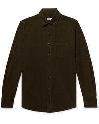Incotex Cotton-corduroy Shirt - Green