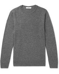 MR P. Slim-fit Merino Wool Jumper - Grey