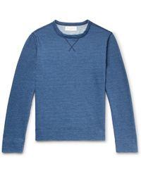 Officine Generale - Mélange Fleece-back Cotton-jersey Sweatshirt - Lyst
