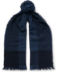 Emma Willis - Prince Of Wales Checked Cashmere Scarf - Lyst