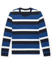 Club Monaco Striped Cotton-jersey T-shirt - Blue