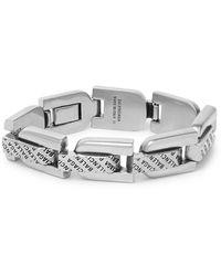 Balenciaga Logo-engraved Silver-tone Chain Bracelet - Metallic