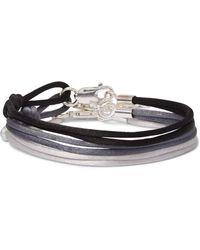 Rubinacci Set Of Three Silk Bracelets - Gray