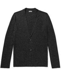 Lanvin - Mélange Wool, Silk And Linen-blend Cardigan - Lyst