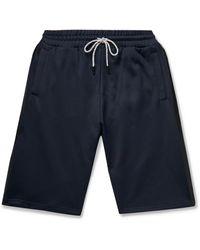 Ermenegildo Zegna Loopback Tech-jersey Drawstring Shorts - Blue