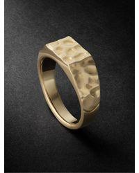Laud Fragment 18-karat Gold Ring - Metallic