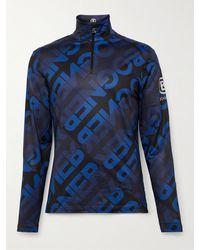 Bogner Verti Slim-fit Stretch-jersey Half-zip Ski Base Layer - Blue