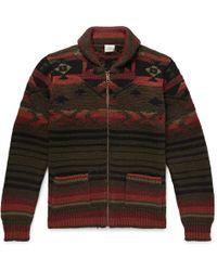 Faherty Brand - Winter Woods Cardigan - Green/brown/orange - Lyst