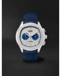 Piaget Polo Automatic Chronograph 42mm Stainless Steel And Rubber Watch - Blue