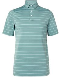 Kjus Golf Soren Striped Stretch-jersey Golf Polo Shirt - Green