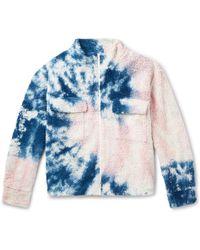 The Elder Statesman - Tie-dyed Cotton-blend Fleece Jacket - Lyst