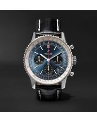 Breitling Navitimer 1 B01 Automatic Chronometer 43mm Stainless Steel And Alligator Watch, Ref. No. Ab0121211c1p1 - Blue