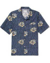 Universal Works - Camp-collar Printed Cotton Shirt - Lyst