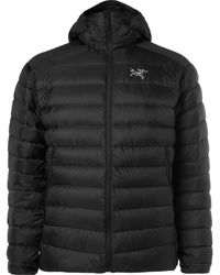 Arc'teryx Cerium Lt Quilted Shell Hooded Down Jacket - Black