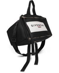Givenchy Pandora Logo-detailed Vinyl Messenger Bag - Black