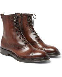 Berluti - Venezia Leather Boots - Lyst
