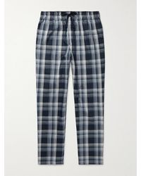 Schiesser Checked Cotton-poplin Pyjama Trousers - Blue